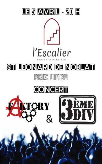 Concert 3èmeDIV + Faktory
