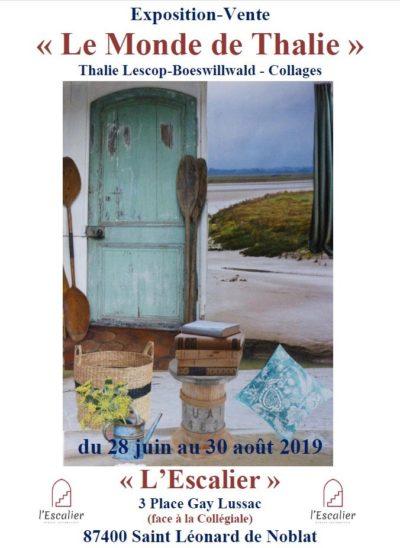 Exposition vente collage Le Monde de Thalie