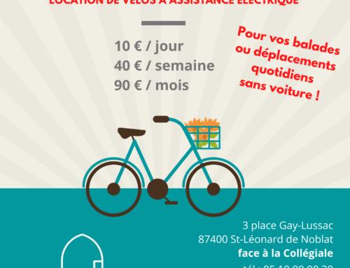 Parcourez St-Léo à vélo (à assistance électrique) !