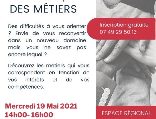 """Atelier """"S'orienter – Aide aux choix professionnels"""" le 9 juin"""