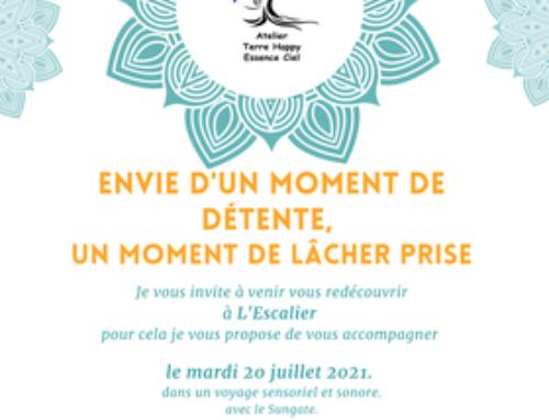 Séances de massage avec l'Atelier Terre Happy Essence Ciel, les 20 et 22 juillet