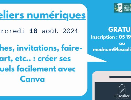 """Atelier numérique Affiche, invitation, faire-part : créer facilement ses supports avec Canva""""- 18 août"""